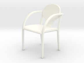 Chair 01. 1:24 scale in White Strong & Flexible Polished
