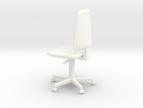 Chair 03. 1:24 scale in White Strong & Flexible Polished