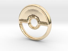 Pokeball (Closed) Charm - 11mm in 14K Gold