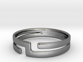 Connect Ring  in Premium Silver