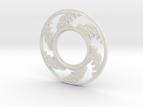MHS compatible Tsunami Tsuba in White Strong & Flexible