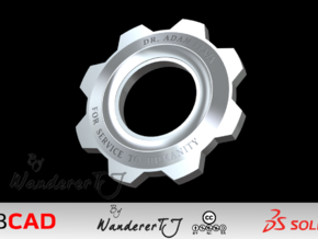 Gears Of War Cog Octus Service Medal in Stainless Steel