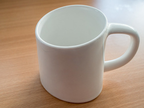 Ellipsoid Mug in Gloss White Porcelain