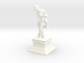 Mozart with Violin Mini Statue in White Strong & Flexible Polished