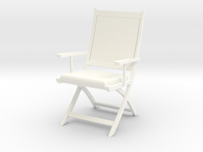 Chair 06. 1:24  Scale in White Strong & Flexible Polished