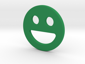 Shopping Cart Chip Smiley 2 in Green Strong & Flexible Polished