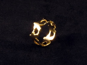 Meeple ring, size 8 (US) / 57 (ISO) in 18k Gold Plated