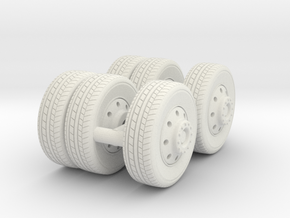 1/64 FDNY seagrave communication truck wheels in White Strong & Flexible