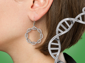 Earring DNA in Premium Silver