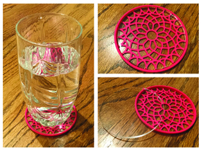 "3-1/4"" Coaster 5 (Insert) in Pink Strong & Flexible Polished"
