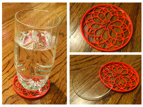 """3-1/4"""" Coaster 8 (Insert) in Orange Strong & Flexible Polished"""