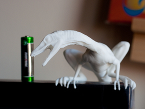 Compy dinosaur desktop figurine in White Strong & Flexible