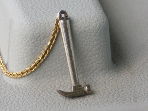 Mini Claw Hammer Pendant in Stainless Steel