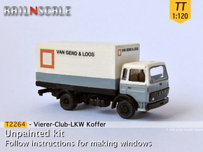 Vierer-Club-LKW Koffer (TT 1:120) in Frosted Ultra Detail
