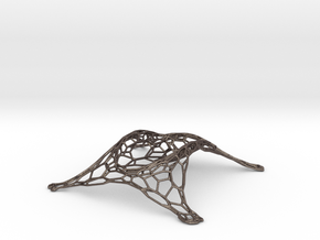 Tessellated Wine Bottle Stand in Stainless Steel