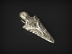 Arrow Pendant in Polished Silver