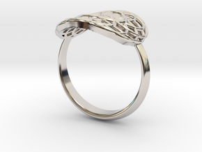 Seed of life Ring in Rhodium Plated