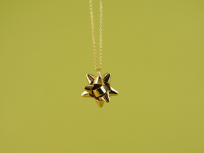 Bow Pendant in Polished Brass