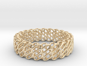 Diagrid L in 14k Gold Plated