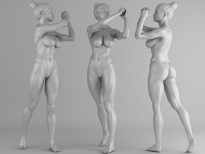 Fitness Girl 005 Scale 1/10 in White Strong & Flexible