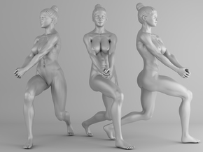 Fitness Girl 006 Scale 1/10 in White Strong & Flexible