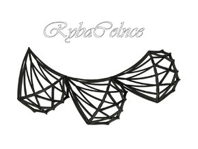 Necklace Diamonds in Black Strong & Flexible