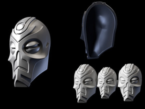 FOD-03-Fantasy Masks Pack for 6'' and 7'' Figures in White Acrylic