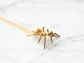 Formicidae Pendant in Raw Brass