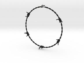 Barbed Wire Choke 2mm in Black Strong & Flexible