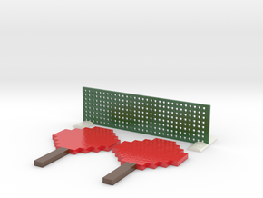 Minecraft Inspired Mini Ping Pong in Coated Full Color Sandstone