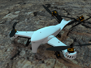 HUNTER KILLER Aerial Drone Main Canopy in White Strong & Flexible