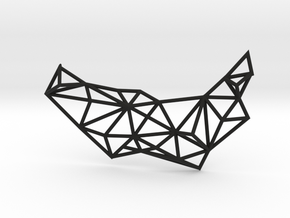 Necklace the Polygon in Black Strong & Flexible