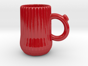 Ridge mug in Gloss Red Porcelain
