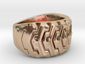 Combine  Ring Size 10 in 14k Rose Gold Plated