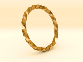 Twistium - Bracelet P=200mm in Polished Gold Steel