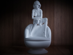 1/32 Girl sitting Chair Part of Girl 016 in Frosted Ultra Detail