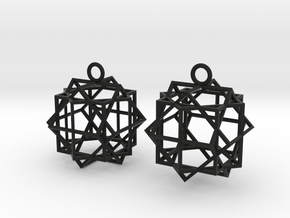 Cube square earrings in Black Strong & Flexible