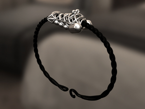 Bracelet for charms - size L (20 cm) in Black Strong & Flexible