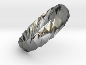 Twistium - Bracelet P=180mm h15 Alpha in Polished Silver