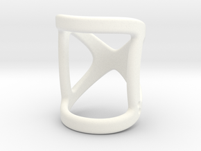 Infinity Ring Splint Size (US) 1.5-3.5 Length 21mm in White Strong & Flexible Polished