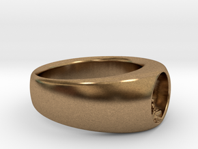 Ø0.716/Ø18.19 mm Buddha RIng in Raw Brass