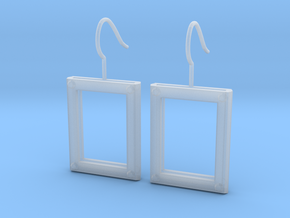 Picture Frame Earrings in Frosted Ultra Detail