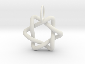 Interlacing Triangle Pendant in White Strong & Flexible