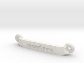 CW01 Chassis Brace - Rear - Montero in White Strong & Flexible