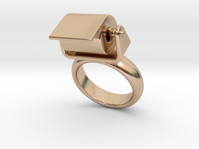 Toilet Paper Ring 14 – Italian Size 14 in 14k Rose Gold Plated
