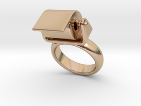 Toilet Paper Ring 16 – Italian Size 16 in 14k Rose Gold Plated
