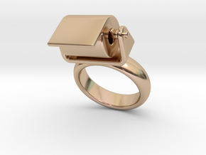 Toilet Paper Ring 22 – Italian Size 22 in 14k Rose Gold Plated