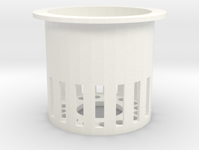 40mm Rockwool Cube Pot in White Strong & Flexible Polished