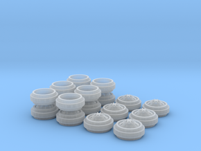 1/64 Alcoa Dually Rims 3 Sets in Frosted Ultra Detail