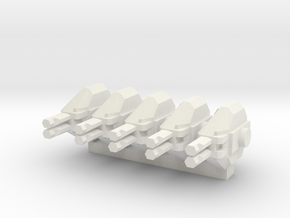 Colonial Marine APC 1 To 285 Extra Turrets in White Strong & Flexible